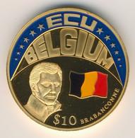 LIBERIA 2001: 10 Dollars, Ecu Belgium - Liberia