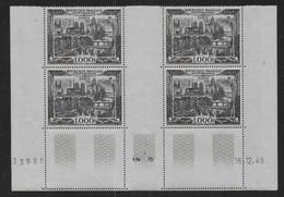 France - Coin Daté  P.A. N° 29  ** Du 16 - 12 - 49  - Cote : 900 € - Airmail