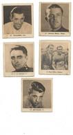5  VIGNETTES  GLOBO  Cyclisme   Année 1930  Ezquerra    Maes    Le Drogo   Egli   Deforges - Wielrennen