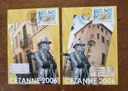 Cezanne Centenaire De Sa Mort En 2006 Aix-en-Provence 18.01.2006 Et 23.10.2006 Fontaine Des 4 Dauphins, Y&T 3777 - Impresionismo