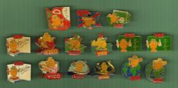 VICO *** Lot De 17 Pin's Differents *** 5015 - Food