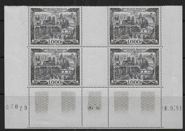 France - Coin Daté  P.A. N° 29  ** Du 18 - 9 - 51  - Cote : 1000 € - Aéreo