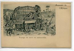 """SOUVENIR De L'AFRIQUE Voyage De Noce En Automobile """" Sahara Congo """"  Amoureux Cage Betes Féroces   /D23-2018 - Non Classificati"""