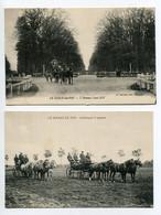 61 LE HARAS Du PIN 2 Cartes Attelage à Quatre Chevaux Et Attelage Avenue Louis XIV    /D23-2018 - Non Classificati