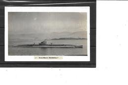 Théme-Transport-Navire De GUERRE-Une Vue Du SOUS-MARIN  *REGNAULT * En Surface -Carte-Photo - Submarinos