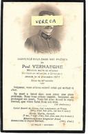MILITAIRE- Paul VERHAEGHE, Medecin Major , Docteur à Etroeungt ,+ Le 14/12/1920 à 45 Ans - Obituary Notices