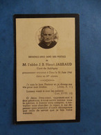 GENEALOGIE FAIRE PART DECES  RELIGION RELIGIEUX ABBE JARRAUD SUBLIGNY 1941 - Avvisi Di Necrologio