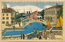 Hafenansicht Adria Ausstellung Wien 1913 Pinx Kalmsteiner - Kroatien