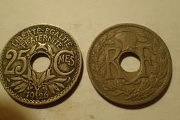 1926 - France - 25 CENTIMES, Lindauer, KM 867a, Gad 380 - F. 25 Centesimi