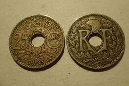 1925 - France - 25 CENTIMES, Lindauer, KM 867a, Gad 380 - F. 25 Centesimi