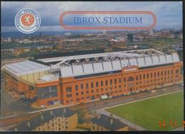 "Carte Postale Stade Glasgow Rangers ""Ibrox"" - Soccer"