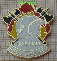 SAPEURS POMPIERS BELGES    QUIEVRAIN ASBL MEDIFEU  BELGIQUE - Firemen