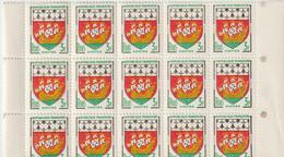 Timbres France Armoiries De NANTES N° Yvert 1185 Neuf  (Feuille Avec 15 Exemplaires) - Ungebraucht