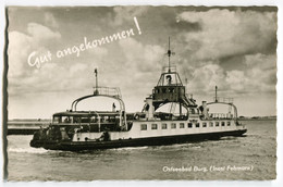 """Triebwagen Auf Trajektschiff """"Fehmarn"""" Vor Burg,Insel Fehmarn, Gelaufen - Trains"""