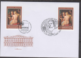 JOINT ISSUES  - LIECHTENSTEIN / AUSTRIA - 2005- WOMEN IN MIRROR  PAINTINGS FOR BOTH COUNTRIES  ON ILLUSTRATED FDC - Stamp Boxes
