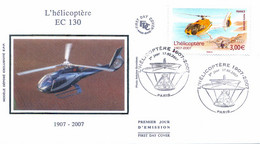 Enveloppe 1er Jour, Centenaire De L'hélicoptère 2007 - (yt PA 70) - 2000-2009