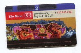 Rare Spécimen Prototype Essai De Fabricant De Carte De Passager Chemin De Fer Allemand DB - Bahn - Train - Europa