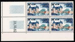 REUNION  CFA  Bloc De 4 Coin Daté 30.10.62  SULLY SUR LOIRE ** MNH TTB 2 Scan - Altri