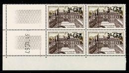 REUNION  CFA  Bloc De 4 Coin Daté 31.12.57 PALAIS De L'ELYSEE   ** MNH TTB 2 Scan - Altri