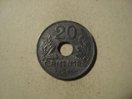 MONNAIE FRANCE 20 CENTIMES ETATS FRANCAIS 1941 ( Type 20 , Lourde ) - E. 20 Centesimi