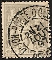 YT 87 (°) 1877-80 SAGE CaD Dijon Porte D'Ouche 21.08.1897 (type II) 3c Gris – Kdomi - 1876-1898 Sage (Type II)