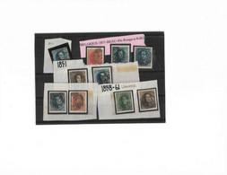 Lot Belgique (Léopold 1er)  N4 - 6 -7x(2) - 8/a - 9/12 Année 1849/50 - 1849-1850 Medallions (3/5)