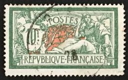 YT 207 Oblitéré (°) Type Merson 10f Vert Et Rouge (côte 18 Euros) – Cklot - 1900-27 Merson