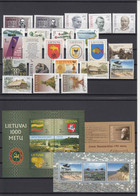 Lithuania 2001 - Full Year MNH ** - Litouwen