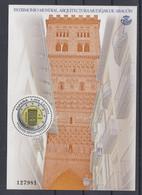 24.- SPAIN ESPAGNE 2020 MINIATURE SHEET MUDEJAR ART OF ARAGON ARABIC TOWER OF THE CHURCH OF SALVADOR - 2011-... Ungebraucht