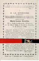 Benjamin Calloo Echt Marie-l  Dewitte O Lefferinckhoucke ( Fr ) 1835 + Veurne 1883 - Images Religieuses