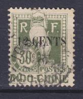 French Indochina Indochine Postage Due Taxe Porto 1919 Mi. 24   12c. Auf 30c. Drachen Von Angkor Overprinted M. Aufdruck - Postage Due