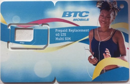 BAHAMAS GSM Card  : BHM02 Girl And Telephone USED - Bahamas