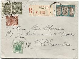 ALGERIE // RECOMMANDE D'ALGER Pour ALEXANDRIE. 1927 - Covers & Documents