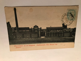 Mouscron Rue De Rolleghem Établissements Félix Masurel Fils Et Cachet De La Manufacture -exposition De Tourcoing 1906 - Mouscron - Moeskroen