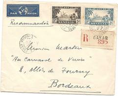 SENEGAL // DAKAR, AOF Pour BORDEAUX. Lettre Recommandée. Par Avion; 1940 - Covers & Documents