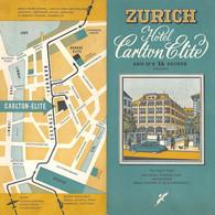"""09373 """"HOTEL CARLTON ELITE - ZURICH"""" PIEGHEVOLE ORIG. - Folletos Turísticos"""