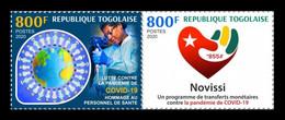 Togo 2020 Mih. 12006/07 Fight Against COVID-19 Coronavirus MNH ** - Togo (1960-...)