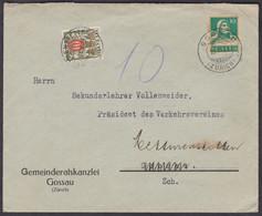 ZH   GOSSAU - METTMENSTETTEN  /  TOLLER TAXIERTER BELEG - Covers & Documents