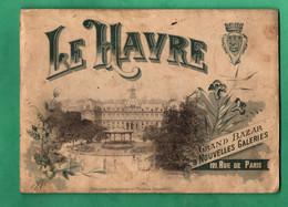 76 Le Havre  Fascicule 12 Vues Pleine Page ( Format 14,5cm X 20,5cm ) Couverture Salie Vendu Dans L ' Etat 18 Scans - Toeristische Brochures