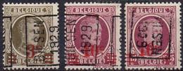 N° 4758A - 4799A/B - BILSEN 1929 - Roller Precancels 1920-29