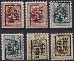 N° 4997A/B - 5060A/B - 5123A/B - BILSEN 1929 - Roller Precancels 1920-29