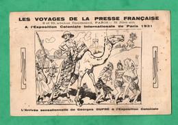 Paris 1931 Georges Dupré à L ' Exposition Coloniale Stand Des Voyages De La Presse Française - Exposiciones