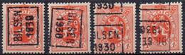 N° 5609A/B/C/D - BILSEN 1930 - Roller Precancels 1930-..