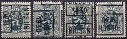 N° 5740A/B/C/D - BILSEN 1930 - Roller Precancels 1930-..