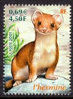 FRANCE - 2001 ANIMALS STOAT STAMP FINE MNH ** SG 3718 - Ungebraucht