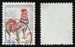 N° 1331d 25c COQ Jaune FLUO Sous UV B Cote 65€ - 1962-65 Hahn (Decaris)