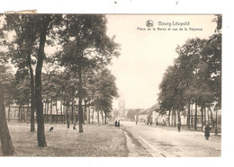 REF2921/ CP-PC Leopoldsburg - Bourg Léopold Place De La Reine Et Rue De La Régence - Leopoldsburg