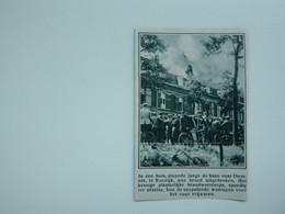 """Origineel Knipsel ( A 132 ) Uit Tijdschrift """" De Stad """"  1933 :  Brand   Kortrijk - Zonder Classificatie"""