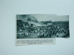 """Origineel Knipsel ( A 133 ) Uit Tijdschrift """" De Stad """"  1933 :  Brand   Lokeren - Zonder Classificatie"""