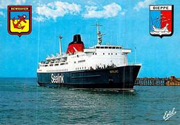 "C P S M Ferry  Bateau  "" Senlac "" Car Ferry  Dieppe Le Port - Traghetti"